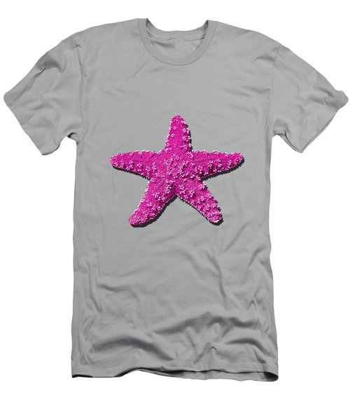 Sea Star Pink .png Men's T-Shirt (Slim Fit) by Al Powell Photography USA
