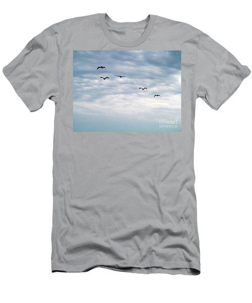 Seabirds In Flight Men's T-Shirt (Athletic Fit)