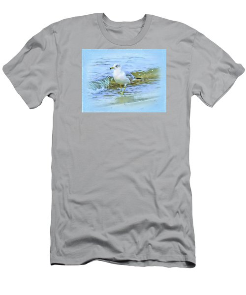 Men's T-Shirt (Slim Fit) featuring the digital art Seagull by Nina Bradica