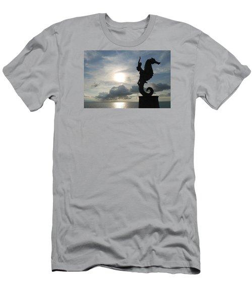 Seahorse Silhouette Men's T-Shirt (Athletic Fit)