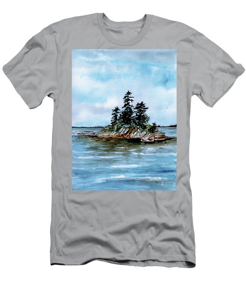 Seascape Casco Bay Maine Men's T-Shirt (Athletic Fit)