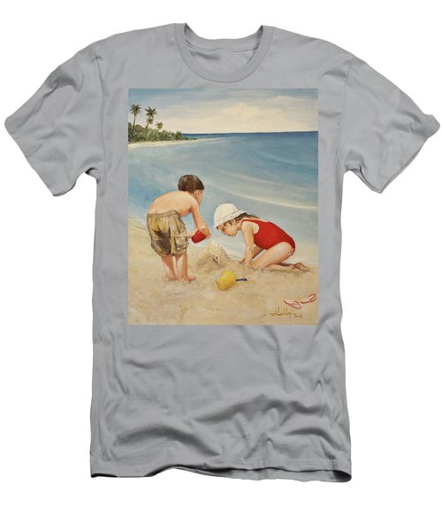 Seashell Sand And A Solo Cup Men's T-Shirt (Athletic Fit)