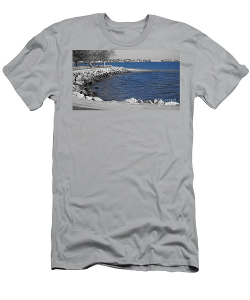 Seaside Blue Men's T-Shirt (Athletic Fit)