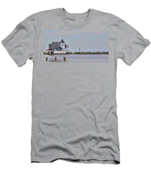 Seaside Park Yacht Club Men's T-Shirt (Slim Fit) by Sami Martin
