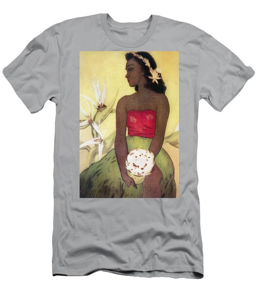 Seated Hula Dancer Men's T-Shirt (Athletic Fit)