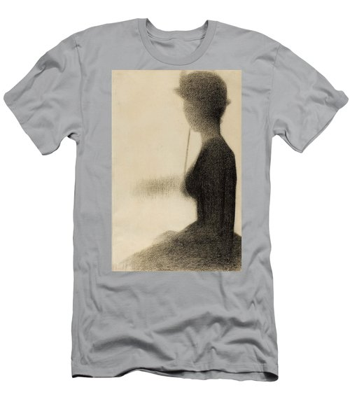 Seated Woman With A Parasol Study For La Grande Jatte Men's T-Shirt (Athletic Fit)