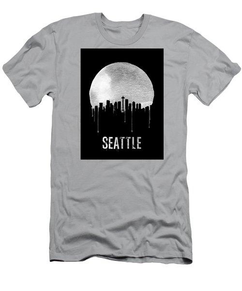 Seattle Skyline Black Men's T-Shirt (Athletic Fit)
