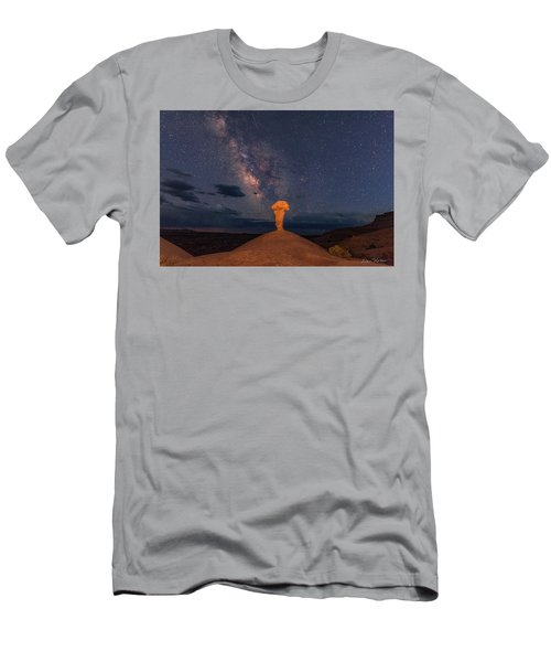 Secret Spire And The Milky Way Horizontal Men's T-Shirt (Athletic Fit)