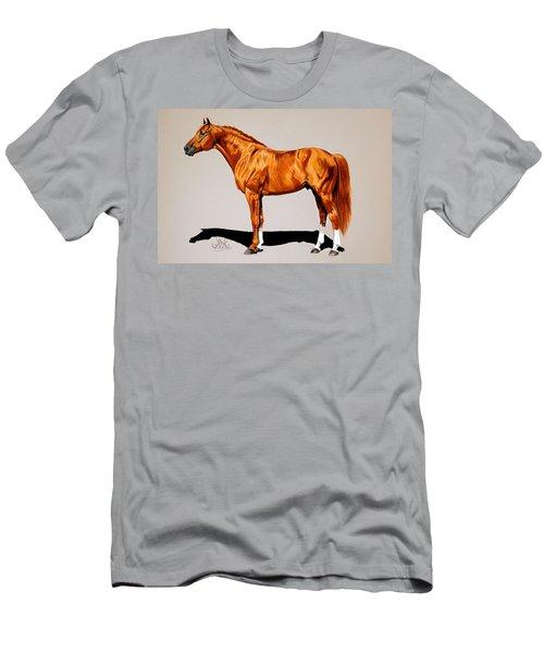 Secretariat - Triple Crown Winner By 31 Lengths Men's T-Shirt (Slim Fit) by Cheryl Poland