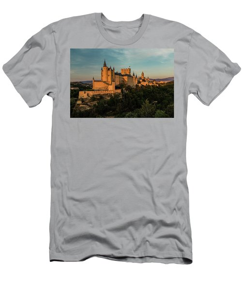 Segovia Alcazar And Cathedral Golden Hour Men's T-Shirt (Athletic Fit)