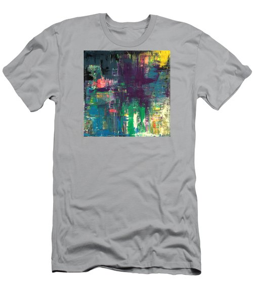 Seize The Day 48x48 Print Abstract Painting Modern Art Original Men's T-Shirt (Athletic Fit)