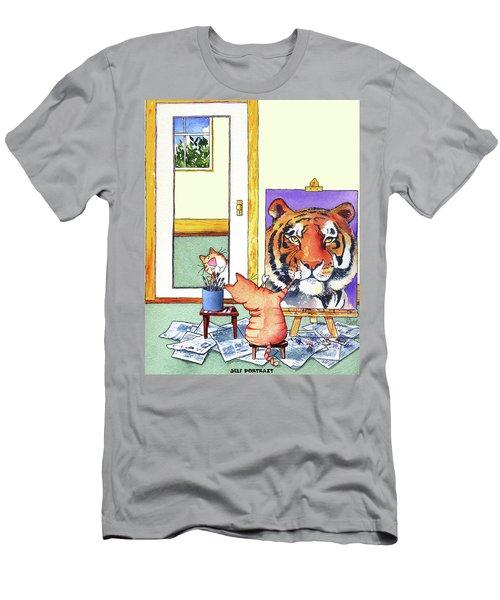 Self Portrait, Tiger Men's T-Shirt (Athletic Fit)