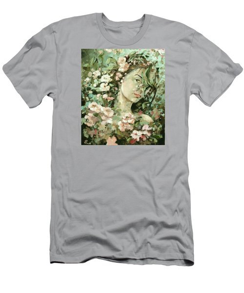 Self Portrait With Aplle Flowers Men's T-Shirt (Athletic Fit)
