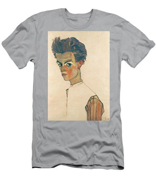 Self-portrait With Striped Shirt Men's T-Shirt (Athletic Fit)