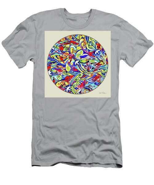 Semi Abstract Paintings Button Men's T-Shirt (Athletic Fit)