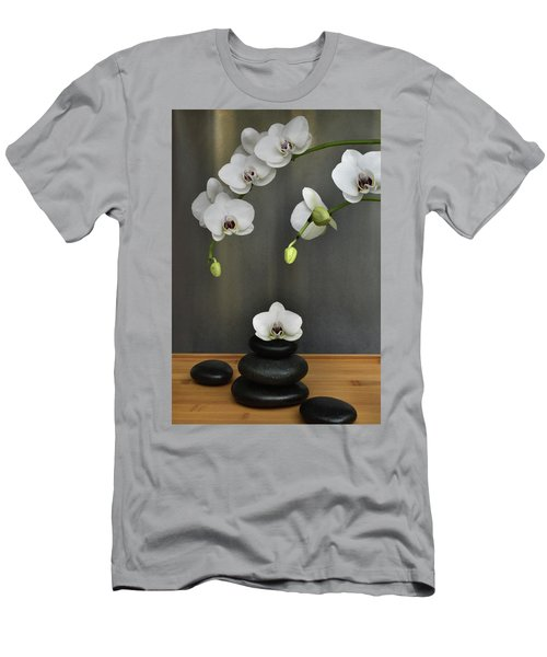 Men's T-Shirt (Slim Fit) featuring the photograph Serene Orchid by Terence Davis