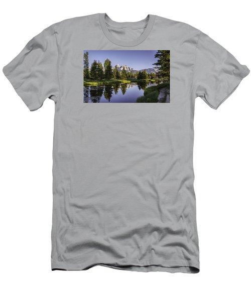 Serene Schwabachers Men's T-Shirt (Slim Fit) by Mary Angelini