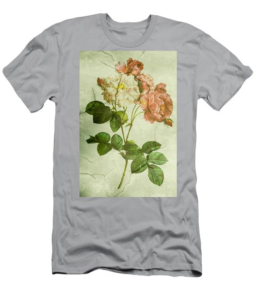 Shabby Chic Pink And White Peonies Men's T-Shirt (Athletic Fit)