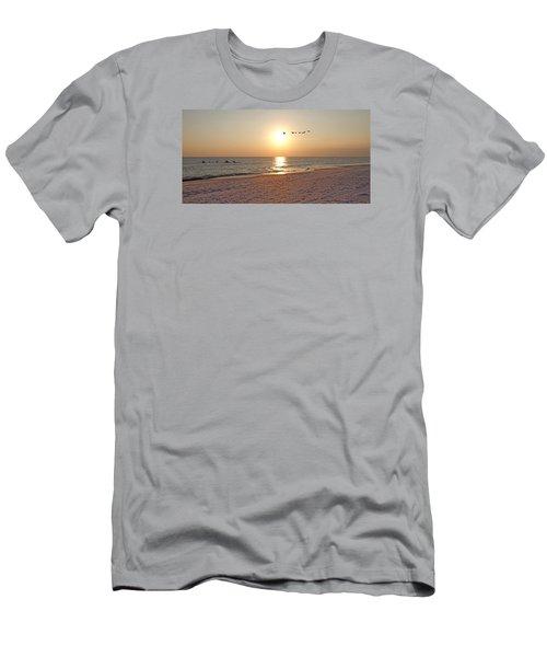 Shackleford Banks Sunset Men's T-Shirt (Slim Fit) by Betsy Knapp