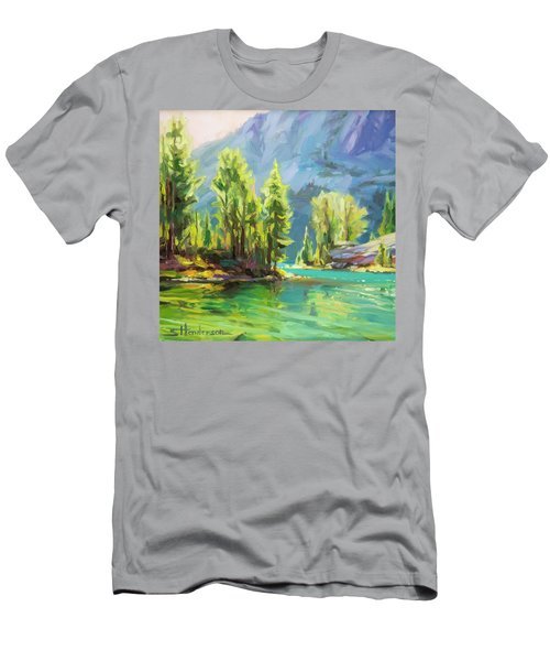 Shades Of Turquoise Men's T-Shirt (Athletic Fit)