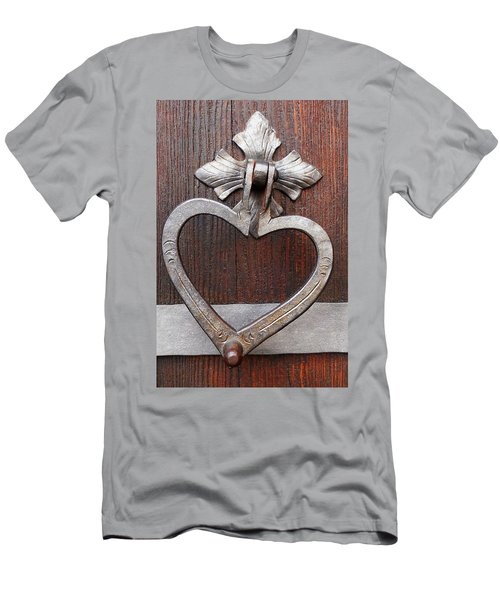 Men's T-Shirt (Slim Fit) featuring the photograph Shape Of My Heart by Juergen Weiss