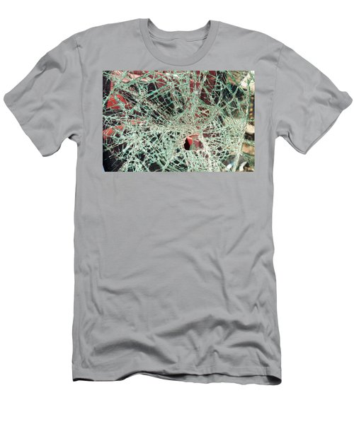 Men's T-Shirt (Athletic Fit) featuring the photograph Shattered Two by Fran Riley