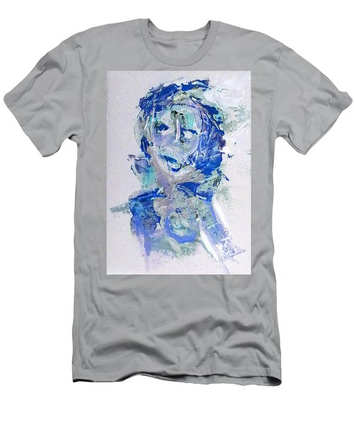 Men's T-Shirt (Athletic Fit) featuring the mixed media She Dreams In Blue by Reed Novotny