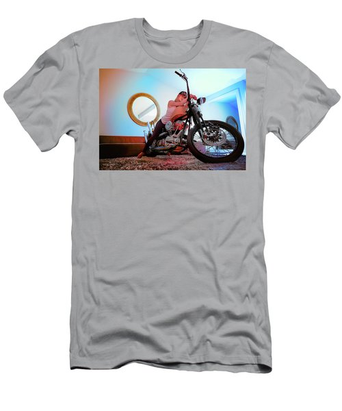 She Rides- Men's T-Shirt (Athletic Fit)