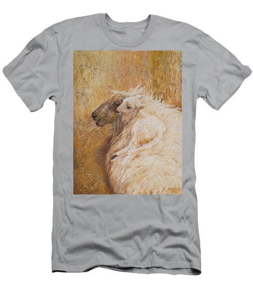 Sheep With A New Born Lamb Men's T-Shirt (Athletic Fit)