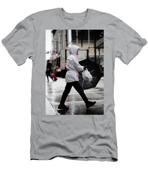 Men's T-Shirt (Slim Fit) featuring the photograph Sheild Of Rain  by Empty Wall