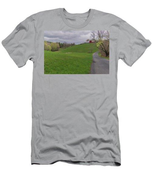 Shelburne Country Road Men's T-Shirt (Slim Fit) by Tom Singleton