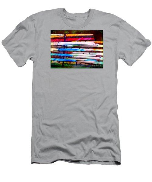Shells At Henley Men's T-Shirt (Slim Fit) by Judi Bagwell