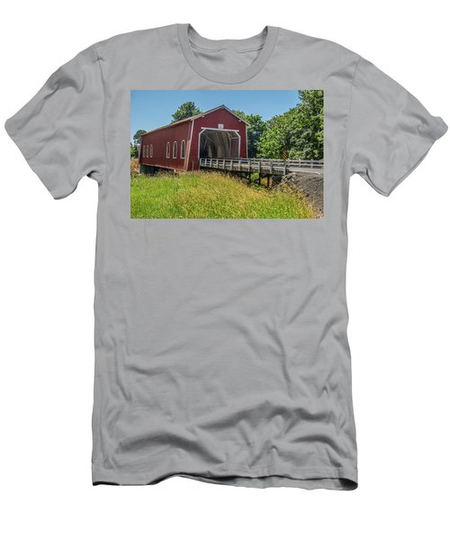 Shimanek Covered Bridge No. 2 Men's T-Shirt (Athletic Fit)