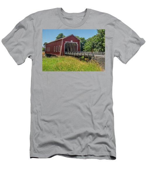 Shimanek Covered Bridge No. 2 Men's T-Shirt (Athletic Fit)