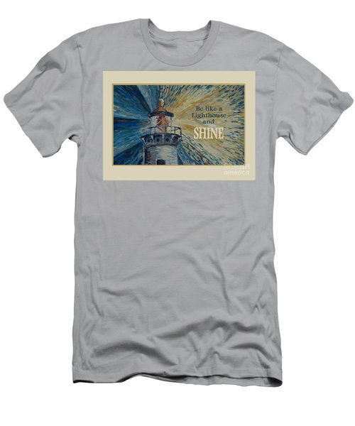 Men's T-Shirt (Athletic Fit) featuring the painting Shine by Maria Langgle