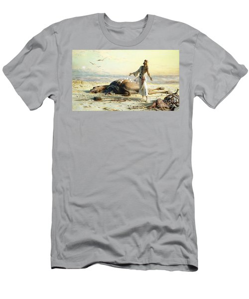 Shipwreck In The Desert Men's T-Shirt (Slim Fit) by Carl Haag