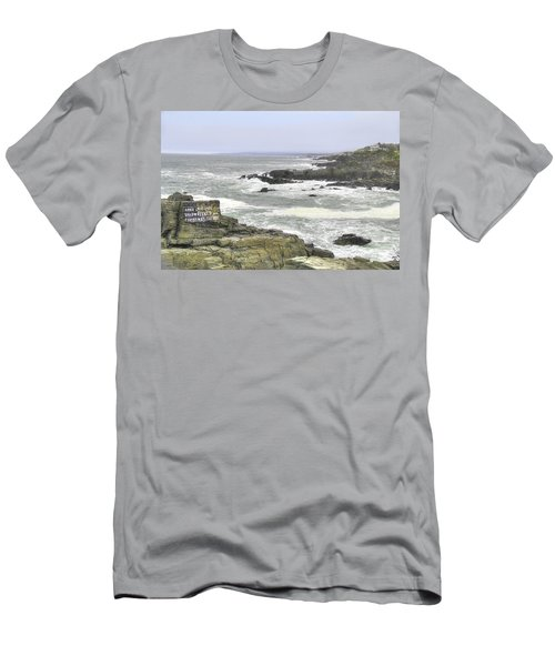 Men's T-Shirt (Slim Fit) featuring the digital art Shipwrecked by Sharon Batdorf