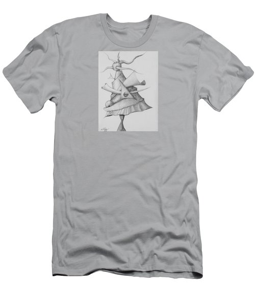 Men's T-Shirt (Athletic Fit) featuring the drawing Plasma Tree by Charles Bates