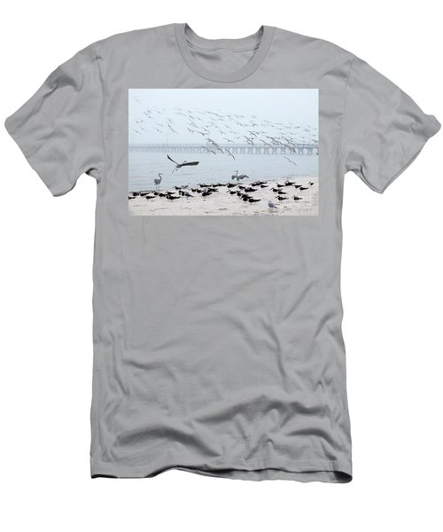 Shorebirds Men's T-Shirt (Slim Fit) by Scott Cameron