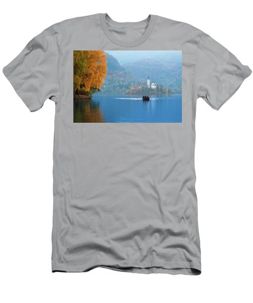 Men's T-Shirt (Athletic Fit) featuring the photograph Shorewards by Davor Zerjav
