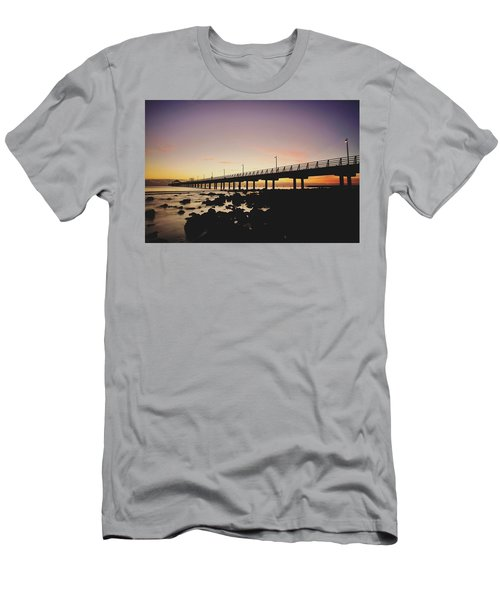 Shorncliffe Pier At Dawn Men's T-Shirt (Athletic Fit)