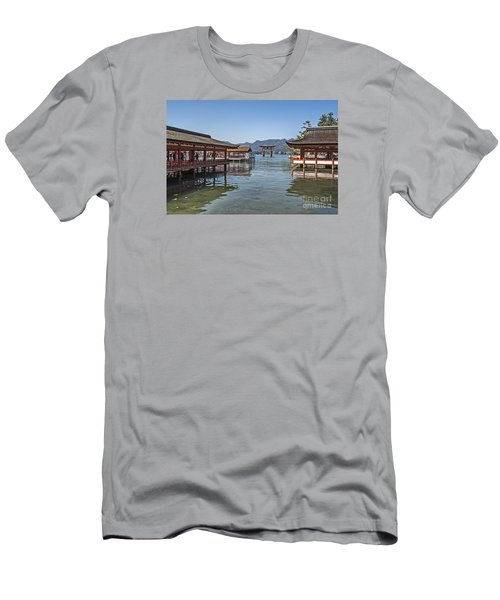 Men's T-Shirt (Slim Fit) featuring the photograph Shrine Over Water by Pravine Chester