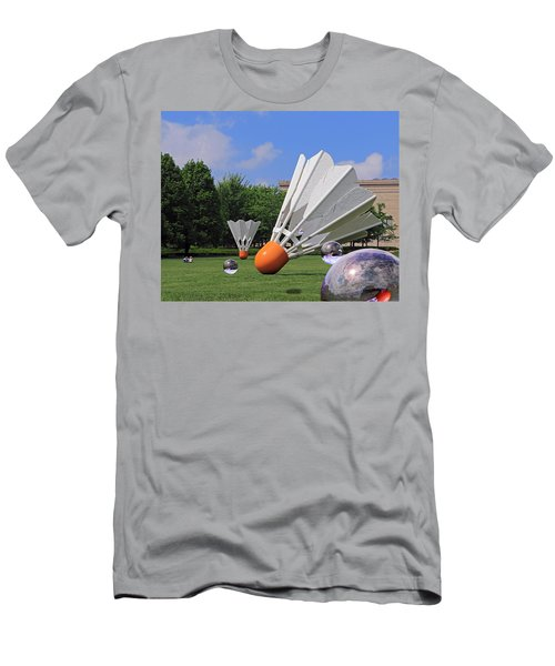 Shuttlecock Visitors Men's T-Shirt (Athletic Fit)