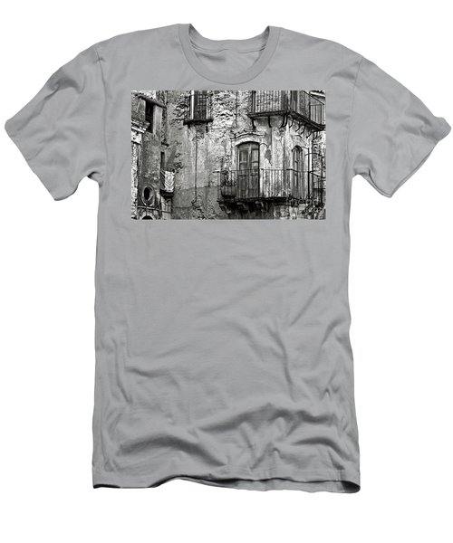 Men's T-Shirt (Athletic Fit) featuring the photograph Sicilian Medieval Facade by Silva Wischeropp