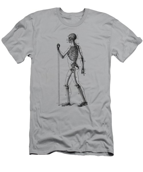 Side View Skeletal Diagram - Vintage Anatomy Poster Men's T-Shirt (Athletic Fit)
