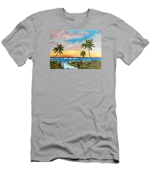 Siesta Key At Sunset Men's T-Shirt (Athletic Fit)