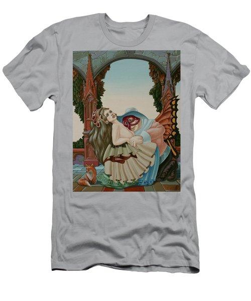 Sigmund Freud With A Fox Men's T-Shirt (Athletic Fit)