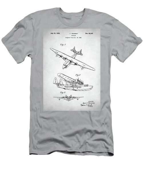 Men's T-Shirt (Slim Fit) featuring the digital art Sikorsky Seaplane Patent by Taylan Apukovska