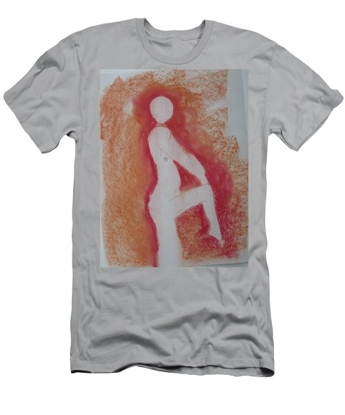 Men's T-Shirt (Slim Fit) featuring the drawing Silhouetted Figure by AJ Brown