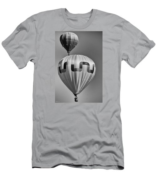Silver Sky Balloons Men's T-Shirt (Slim Fit) by Kevin Munro